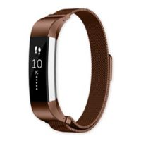Fitbit® Alta™/Alta HR™ Milanese Loop Band in Coffee/Stainless Steel