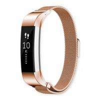 Fitbit® Alta™/Alta HR™ Milanese Loop Band in Rose Gold/Stainless Steel