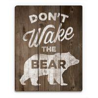 "Astra Art ""Don't Wake the Bear"" 14-Inch x 11-Inch Wood Wall Art"