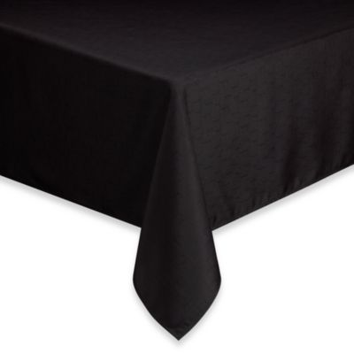Basics Solid 52 Inch X 70 Inch Tablecloth In Black