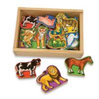 Melissa & Doug® Wooden Animal Magnets