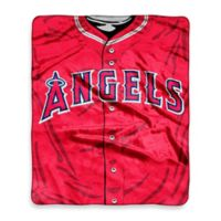 MLB Los Angeles Angels Vintage Raschel Throw Blanket