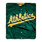 MLB Oakland Athletics Jersey Raschel Throw Blanket