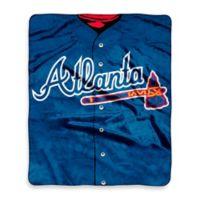 MLB Atlanta Braves Jersey Raschel Throw Blanket