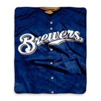 MLB Milwaukee Brewers Jersey Raschel Throw Blanket