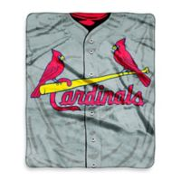 MLB St. Louis Cardinals Jersey Raschel Throw Blanket