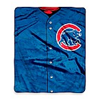 MLB Chicago Cubs Jersey Raschel Throw Blanket