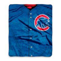 MLB Chicago Cubs Jersey Raschel Throw Blanket
