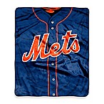 MLB New York Mets Jersey Raschel Throw Blanket