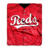 MLB Cincinnati Reds Jersey Raschel Throw Blanket