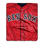 MLB Boston Red Sox Jersey Raschel Throw Blanket