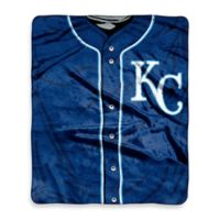 MLB Kansas City Royals Jersey Raschel Throw Blanket