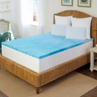 Arctic Sleep 2-Inch Marbelized Gel Memory Foam Queen Topper