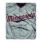 MLB Minnesota Twins Jersey Raschel Throw Blanket
