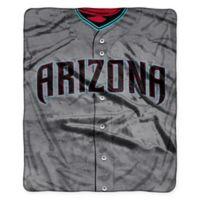 MLB Arizona Diamondbacks Jersey Raschel Throw Blanket