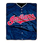 MLB Cleveland Indians Jersey Raschel Throw Blanket
