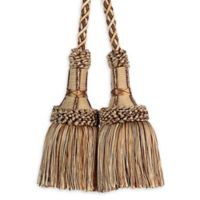 Paris Chair Tassel Tie Back in Gold/Taupe