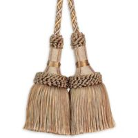 Paris Chair Tassel Tie Back in Taupe/Gold