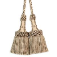 Paris Chair Tassel Tie Back in Taupe/Beige