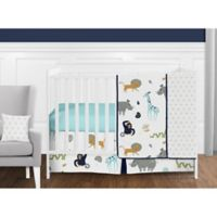 Sweet Jojo Designs Mod Jungle 11-Piece Crib Bedding Set