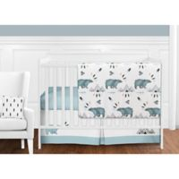 Sweet Jojo Designs Bear Mountain 11-Piece Crib Bedding Set in Blue/Black