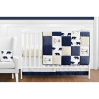 Sweet Jojo Designs Big Bear 11-Piece Crib Bedding Set in Blue/Gold