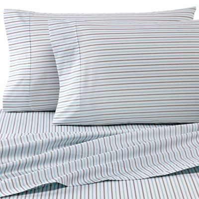 Heartland® HomeGrown™ 325 TC Cotton Percale Full XL Fitted Sheet In Stripe