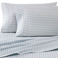 Heartland® HomeGrown™ 325-Thread-Count Cotton Percale King Flat Sheet in Stripe