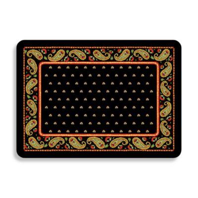 Perfect Bungalow Flooring Black Paisley Premium Kitchen Mat