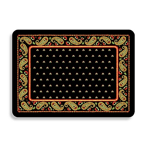 Bungalow Flooring Black Paisley Premium Kitchen Mat Bed Bath Beyond