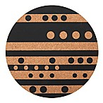 Core Kitchen™ Round Cork Trivet in Lines and Dots