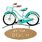 T.I. Design Bike at Beach 13-Inch Metal Wall Art with Beach Sign