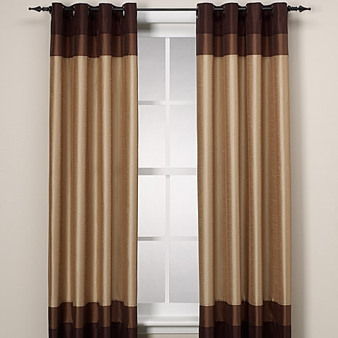 Curtains Ideas colorblock curtains : Colorblock Grommet Window Panel - Bed Bath & Beyond