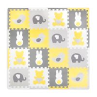 Tadpoles™ by Sleeping Partners 16-Piece Tedd & Friends Play Mat in Yellow/Grey