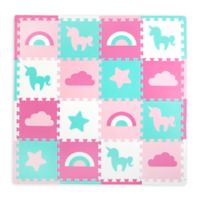 Tadpoles™ by Sleeping Partners Unicorns & Rainbows Play Mat in Turquoise/Pink