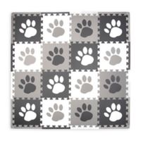 Tadpoles™ by Sleeping Partners 16-Piece Paw Print Play Mat in Grey
