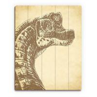 Astra Art Brachiosaurus 14-Inch x 11-Inch Wood Wall Art