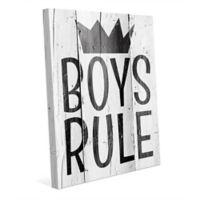 """Astra Art """"Boys Rule"""" 16-Inch x 20-Inch Canvas Wall Art"""