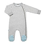 kushies® Newborn Classics Striped Footie in Grey