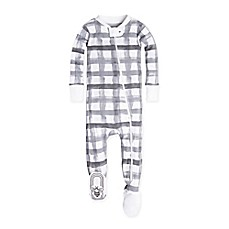Burt's Bees Baby® Plaid Footed Pajama in Grey