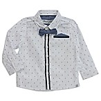Sovereign Code™ Size 12M 2-Piece Chambray Shirt and Bow Tie Set in White