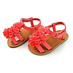Rising Star™ Size 3-6M Flower Sandal in Coral