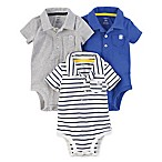 carter's® Size 3M 3-Pack Polo Bodysuits