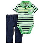 carter's® Size 3M 2-Piece Neon Bodysuit and Pant Set in Green/Blue
