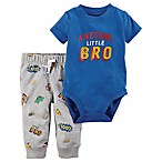 carter's® Size 12M 2-Piece Awesome Little Bro Bodysuit and Pant Set in Blue