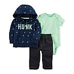 carter's® Size 3M 3-Piece Neon Little Jacket, Bodysuit, and Pant Set in Green/Blue