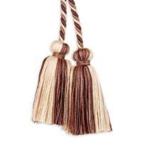 Elara Tie Back in Brown/Beige