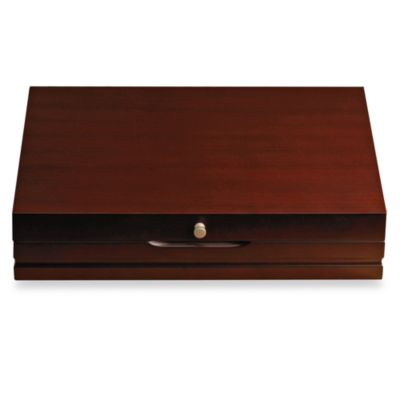 Wallace Dark Walnut Flatware Chest in Service for 12 Bed Bath