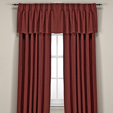 Buy Union Square Pinch Pleat 54 Inch Window Curtain Panel In Red From Bed Bath Beyond
