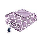 Beautyrest® Ogee Heated Oversized Throw Blanket in Lavender